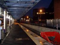 Evening at Haymarket. Looking west along the newly commissioned bay platform in December 2006. <br><br>[Charles Barclay&nbsp;/12/2006]