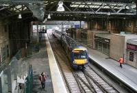 First ScotRail empty stock using the northside crossover between platform 20 and platform 2 on 28 December 2006.<br><br>[John Furnevel&nbsp;28/12/2006]