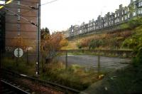 One mile to the east of Waverley, just south of the ECML alongside London Road, stands an office block and car parks. This was part of the site of St Margarets shed, in the early 1950s home to over 200 steam locomotives. Photographed from a passing train in December 2006.  <br><br>[John Furnevel&nbsp;/12/2006]