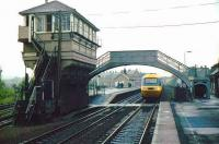 HST at Hatwhistle, looking west towards Carlisle prior to refurbishment of the sb and footbridge.<br><br>[Ian Dinmore&nbsp;//]