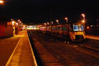 Modern traction at Ilkley. The two platforms to the right no longer go through.<br><br>[Ewan Crawford&nbsp;14/11/2006]