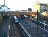 View west over the four through platforms at Haymarket on 4 January 2007 from above Haymarket tunnel.<br><br>[John Furnevel&nbsp;4/01/2007]