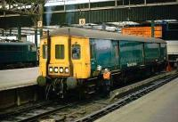 Class 128 Gloucester RC&W parcels unit at Manchester Piccadilly.<br><br>[Ian Dinmore&nbsp;//]