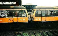 Bury electrics at Manchester Victoria.<br><br>[Ian Dinmore&nbsp;//]