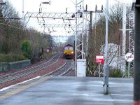 Looking towards Elderslie a Class 66 approached Pailsey Gilmour Street carrying coal bound for Longannet PS<br><br>[Graham Morgan&nbsp;05/01/2007]