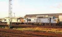 Stored class 37s in the yard at Motherwell MPD on 5 January 2007. <br><br>[John Furnevel&nbsp;05/01/2007]