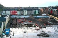 Waverley Valley development on 7 January 2007. No further progress, with the archaeological dig between the ECML and the Canongate having been further extended. Passengers on trains to and from the south now have an unrestricted view of this historic section of The Royal Mile (as well as the remains of an ancient gas works). <br><br>[John Furnevel&nbsp;07/01/2007]