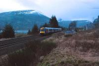 Southbound service passes the closed station at Dalnaspidal.<br><br>[Ewan Crawford&nbsp;04/01/2007]
