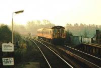 DC electric service on the Manchester - Bury line approaching Whitefield.<br><br>[Ian Dinmore&nbsp;//]