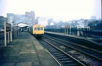 A DMU stands at Birmingham Moor Street in 1981.<br><br>[Ian Dinmore&nbsp;//1981]