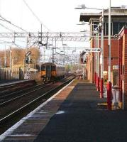 Departure from Newton on 5 January signalled for Newton West Junction and the Rutherglen line.<br><br>[John Furnevel&nbsp;/01/2006]