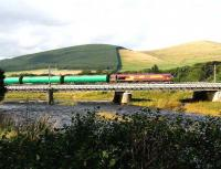 66149 takes the Dalston - Grangemouth empties over Lamington Viaduct in September 2006.<br><br>[John Furnevel&nbsp;22/9/2006]