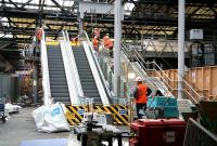 Testing the newly installed escalators on Waverley's western concourse on 15 December 2006.<br><br>[John Furnevel&nbsp;15/12/2006]