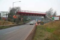Helensfield bridge, east of Alloa, on 22 December 2006. The new deck was hoisted into place the previous weekend.<br><br>[John Furnevel&nbsp;22/12/2006]