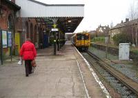 Changing from a Preston train at Ormskirk onto a Merseyrail 508 on 9 Jan for the journey into Liverpool. This was a through route for Liverpool - Glasgow services until buffer stops were installed in the 1970s.  <br><br>[John McIntyre&nbsp;9/01/2007]