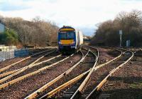 Crossings, points, loops and sidings - the road south from Dalmeny, January 2007.<br><br>[John Furnevel&nbsp;/01/2007]