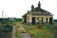 Remains of the old station at Spey Bay looking west.<br><br>[Ian Dinmore&nbsp;//]