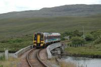 Heading east from Achanalt this Sprinter crosses a famous Bridge.<br><br>[Ewan Crawford&nbsp;22/07/2004]