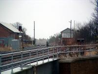 Signalbox and former junction at Seaham. Looking south in March 2004.<br><br>[Ewan Crawford&nbsp;20/03/2004]