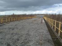 The deck of the viaduct which once carried the Hot Metal Road in Ravenscraig on to the slag processing area.<br><br>[Ewan Crawford&nbsp;29/03/2004]
