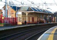 Main station building at Coatbridge Sunnyside looking west, 2007. <br><br>[John Furnevel 29/01/2007]
