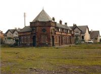 Lanarkshire and Dumbartonshire Railway, Clydebank Riverside Station.  Architect J. J. Burnet. See photograph ref 14950 for similar view in 2007.<br><br>[Alistair MacKenzie //]
