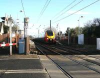 Westbound Voyager through Kingsknowe on 25 January approaching the level crossing.<br><br>[John Furnevel&nbsp;/01/2007]