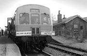 Railtour at Oakley station in 1974.<br><br>[Bill Roberton&nbsp;//1974]