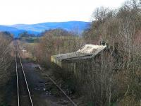 View west over the former Newburgh station in January 2007. <br><br>[Brian Forbes&nbsp;27/01/2007]