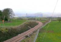 View of new track at Kennet heading west to Clackmannan. Between Alloa and Kincardine.<br><br>[Brian Forbes&nbsp;28/01/2006]