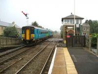 Carlisle train leaving Haydon Bridge in October 2006.<br><br>[John McIntyre&nbsp;/10/2006]