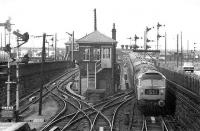 Passing Dundee West box in 1973. <br><br>[Bill Roberton&nbsp;//1973]