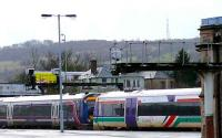 Different Scotrail liveries seen at Perth.<br><br>[Brian Forbes&nbsp;14/01/2007]