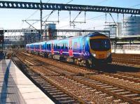 Class 185 arrives at Leeds with a train for Scarborough in September 2006.<br><br>[John McIntyre&nbsp;21/9/2006]