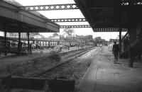 Looking west from Alloa station in 1973.<br><br>[Bill Roberton&nbsp;//1973]