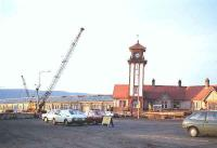 Wemyss Bay pier during refurbishment viewed from the car ferry waiting area.<br><br>[John Gray&nbsp;//]