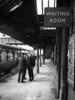 <I>Still, who knows what might be here in 35 years time...</I> Members of the crew of a special ponder the future at Alloa station in 1973.<br><br>[Bill Roberton&nbsp;//1973]