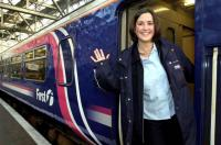 Eva Brodie, a driver from Ayr who has featured in the campaign by First ScotRail to increase the number of women drivers.<br><br>[First ScotRail&nbsp;01/02/2007]