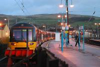 A service for Bradford stands in the south bay at Skipton in November 2006.<br><br>[Ewan Crawford&nbsp;21/11/2006]