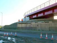 Helensfield Bridge, east of Alloa is hooked up now, we can stand back and admire it.<br><br>[Brian Forbes&nbsp;02/02/2007]