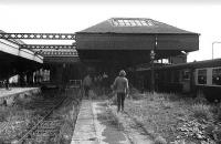 Alloa old station during a railtour in 1973. <br><br>[Bill Roberton&nbsp;//1973]