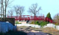 Restored footbridge over the SAK line at Alloa Athletic FC ground.<br><br>[Brian Forbes&nbsp;02/02/2007]