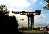 The Stobcross (or Finnieston) crane, grade A listed building, erected 1931 by Clyde Navigation Trust to load locomotives onto ships. Glasgow was the largest builder of locomotives outside the USA.<br><br>[Alistair MacKenzie&nbsp;//]