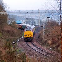 <i>Hello Stranger!</i> Tour train on the Helensburgh Central line. Firth of Clyde in backdrop.<br><br>[Ewan Crawford&nbsp;10/02/2007]