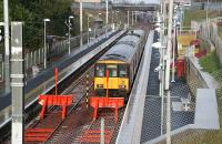 A Dalmuir train about to leave Larkhall in January 2007.<br><br>[John Furnevel&nbsp;31/01/2007]