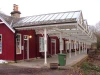 Strathpeffer, a view along the platform in February 2007.<br><br>[John Gray&nbsp;11/02/2007]