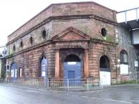 Former entrance to Cumberland Street station on 10 February 2007. Maybe one day this fine looking building will be restored back to its former glory.<br><br>[Colin Harkins&nbsp;10/02/2007]