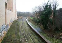 The remains of Abbeyhill station on 12 Feb 2007 looking south towards Abbeyhill Jct and the ECML with Waverley off to the right.<br><br>[John Furnevel&nbsp;12/02/2007]