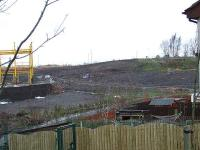 Site of North Johnstone Station. Work is progressing on new store. Remnants of trackbed at top right, and trackbed to Johnstone North branch at centre right where fence is.<br><br>[Graham Morgan&nbsp;23/01/2007]