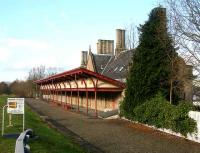 The beautifully restored station at Melrose in February 2007, looking along the trackbed towards Tweedbank, a mile and a half to the west.<br><br>[John Furnevel 11/02/2007]